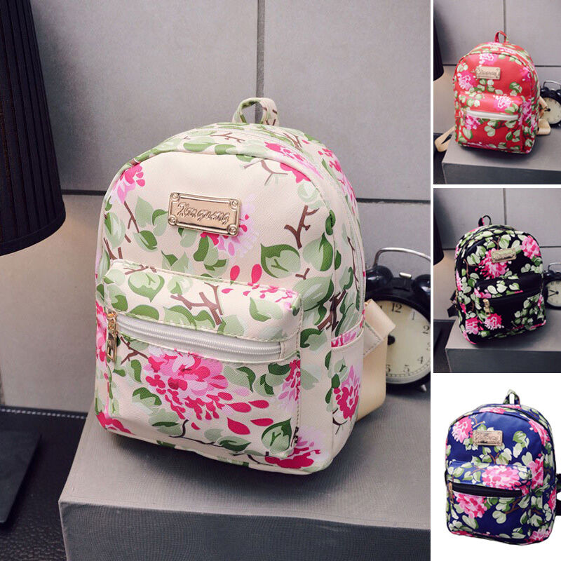 Women Vintage Fashion Flower Casual Travel Shoulder Bag