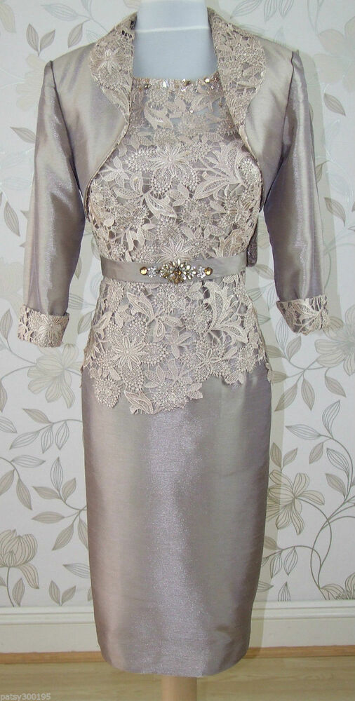 Mother of the bride dress formal satin wedding party for Dress and jacket outfits for weddings
