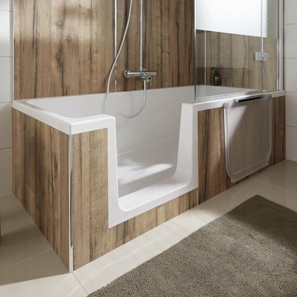 hsk dusch wanne dobla 160 oder 170 cm badewanne mit t r mit einstieg glast r ebay. Black Bedroom Furniture Sets. Home Design Ideas