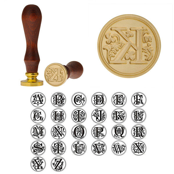 single letter wax seal script style s initial ornamental letter vintage alphabet wax badge seal 151