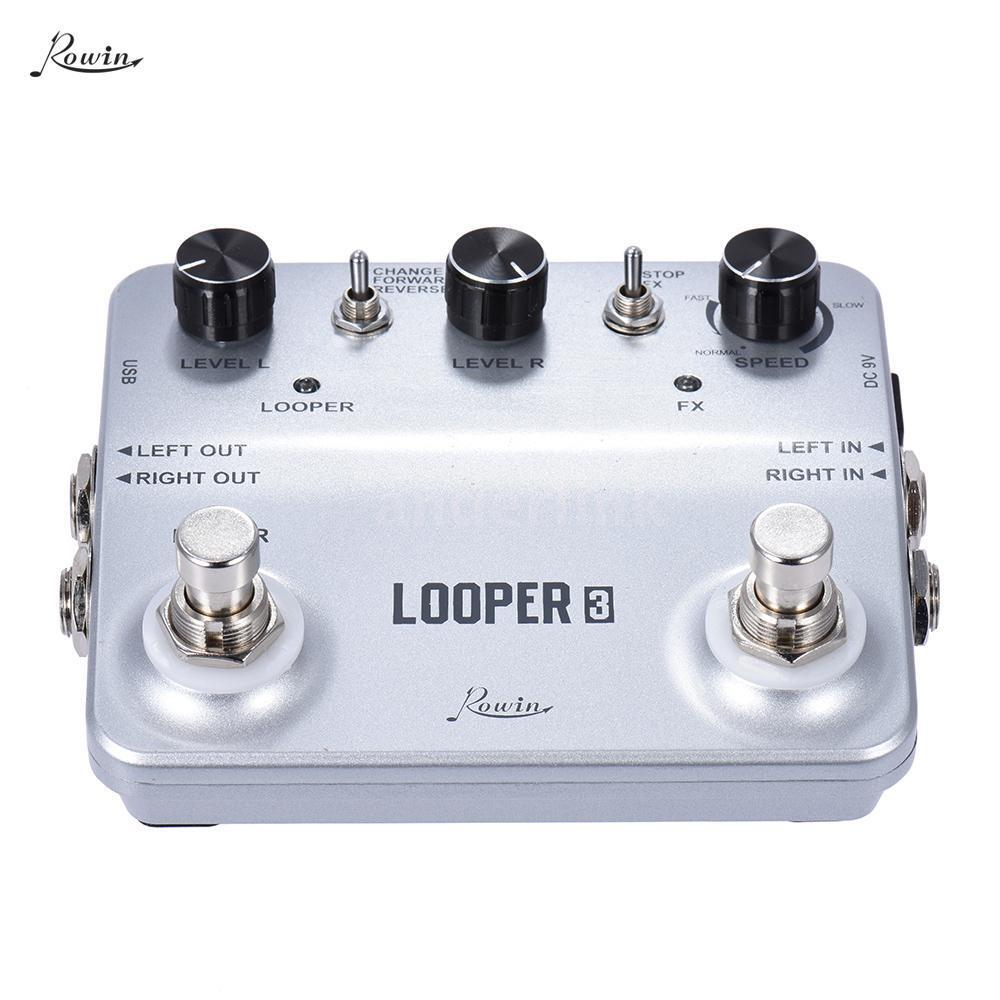 rowin looper3 guitar effects pedal mono stereo input output sound recording e3o6 ebay. Black Bedroom Furniture Sets. Home Design Ideas