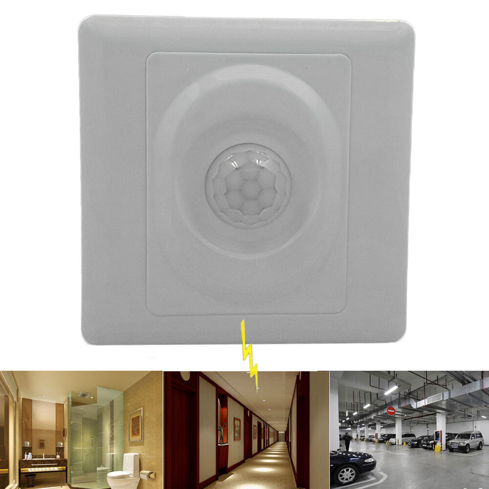 Automatic Infrared PIR Body Motion Sensor Switch for Wall Home Office Light LED eBay