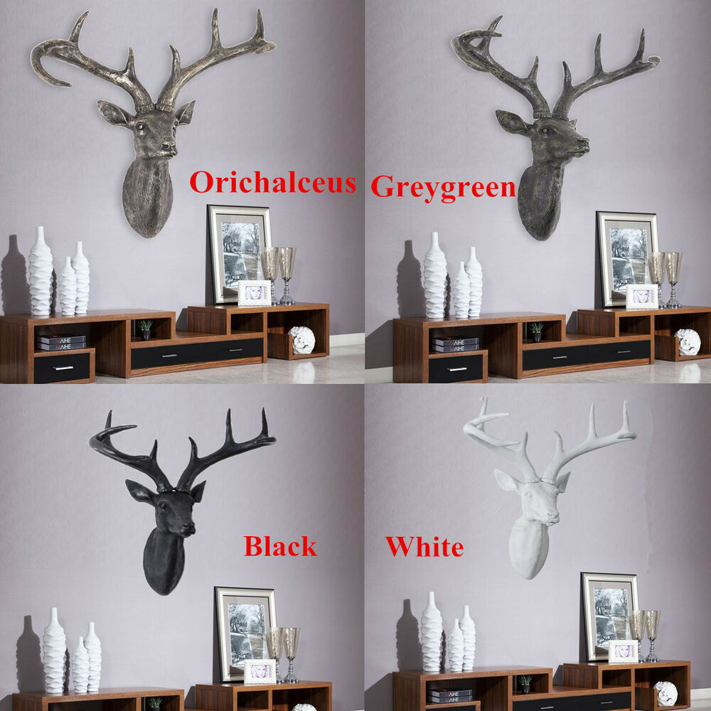 Modern home commercial decor deer head with antlers for Antler decorations for home