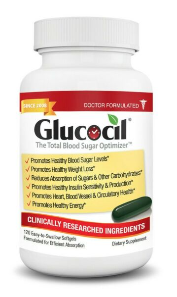 Glucocil 120ct Bottle - #1 at GNC - 100,000+ FB Fans - Direct from Manufacturer
