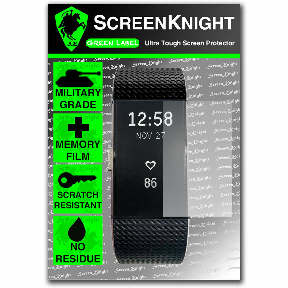 screenknight fitbit charge 2 ii screen protector. Black Bedroom Furniture Sets. Home Design Ideas