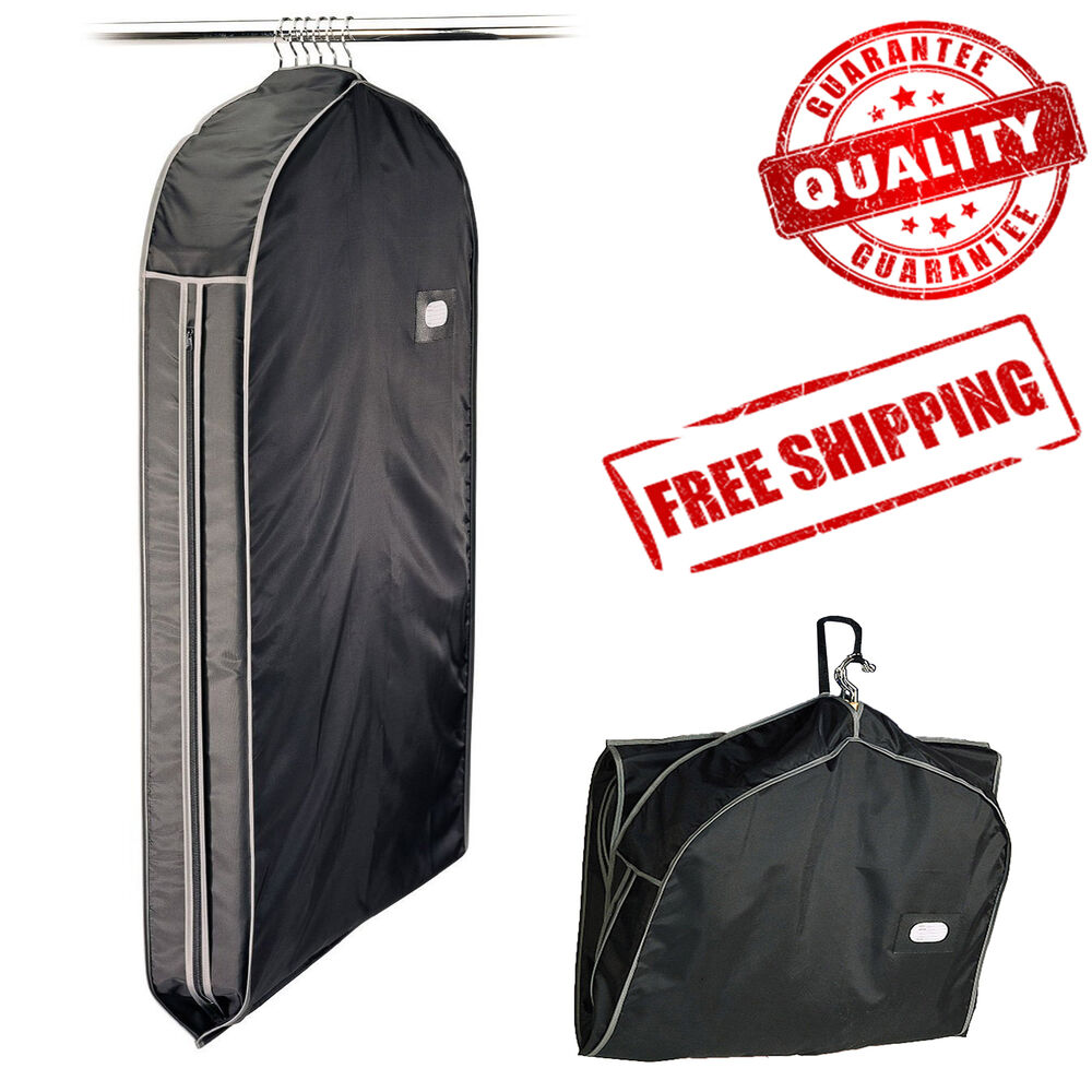 garment_Suit Travel Garment Bag Dress Storage Clothes Cover Coat Jacket Carrier Zipper | eBay