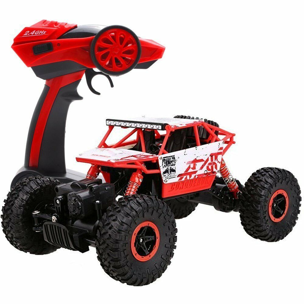 2 4ghz rc rock crawler 4wd monster car truck off road. Black Bedroom Furniture Sets. Home Design Ideas