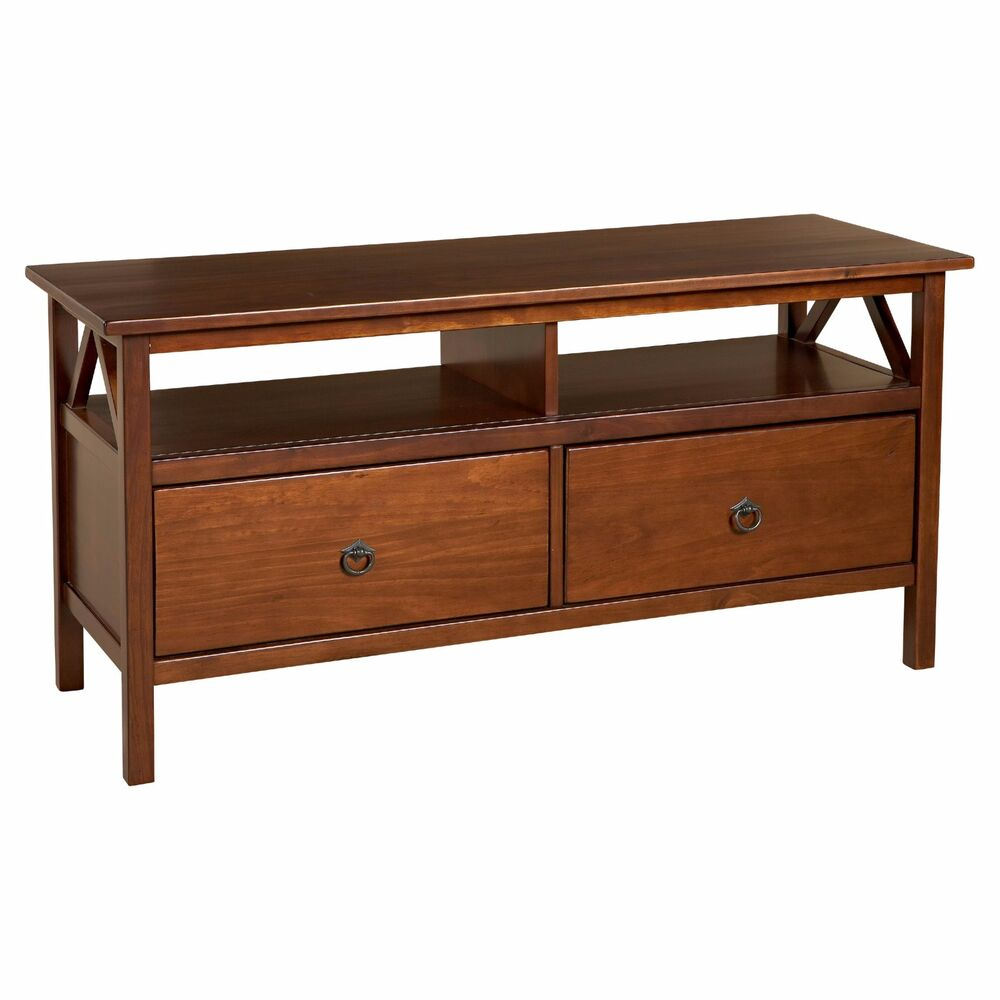 Tv stand entertainment center media storage console table for Sofa console
