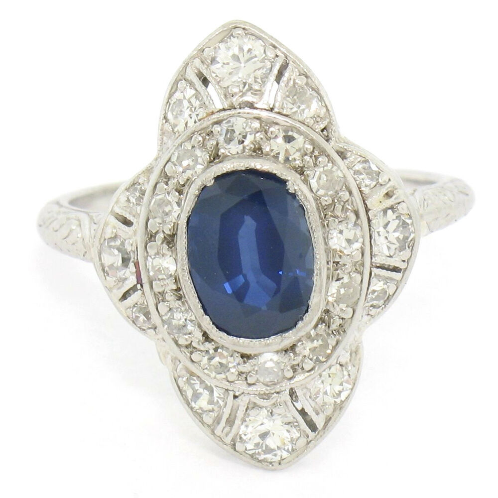 Sapphire Filigree Engagement Rings