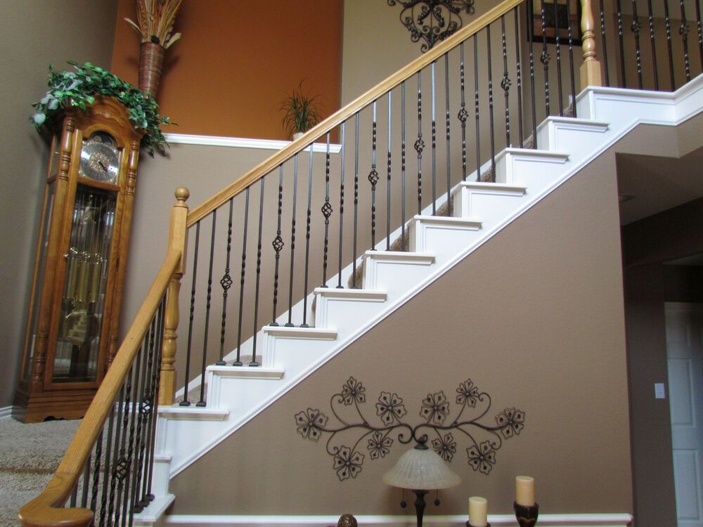 iron balusters iron stair parts stair railing metal ...