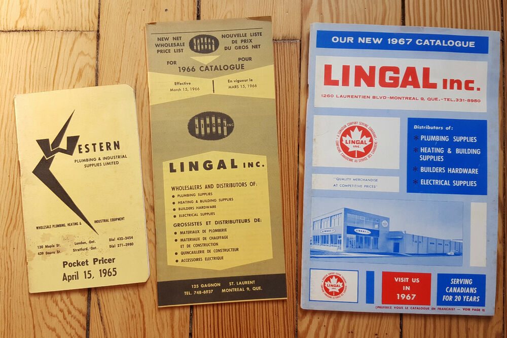 Lingal Inc Plumping Supplies Catalogues Lot X3 Industrial Heating