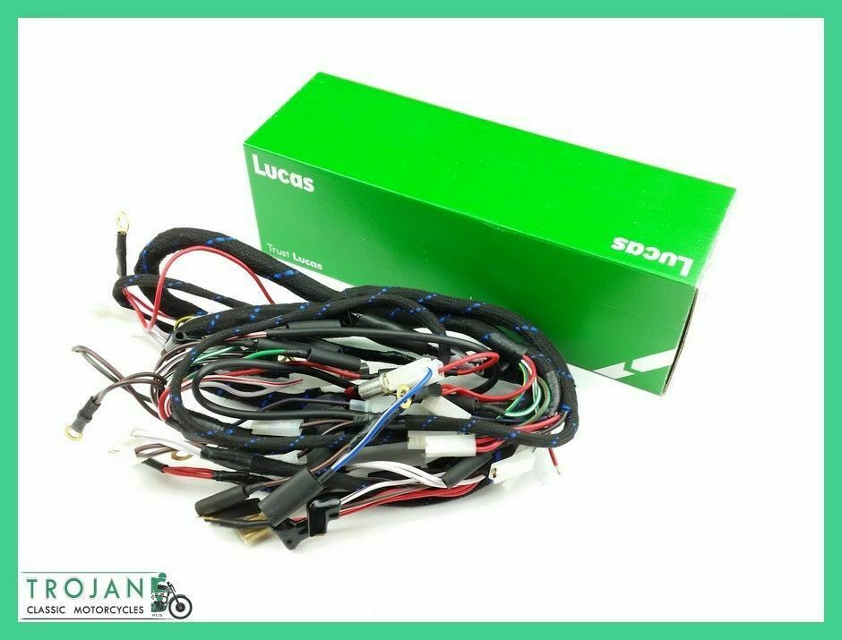 motorcycle wiring harness kit lucas motorcycle wiring harness wiring harness, lucas, triumph pre unit, 1949-51 magneto ...