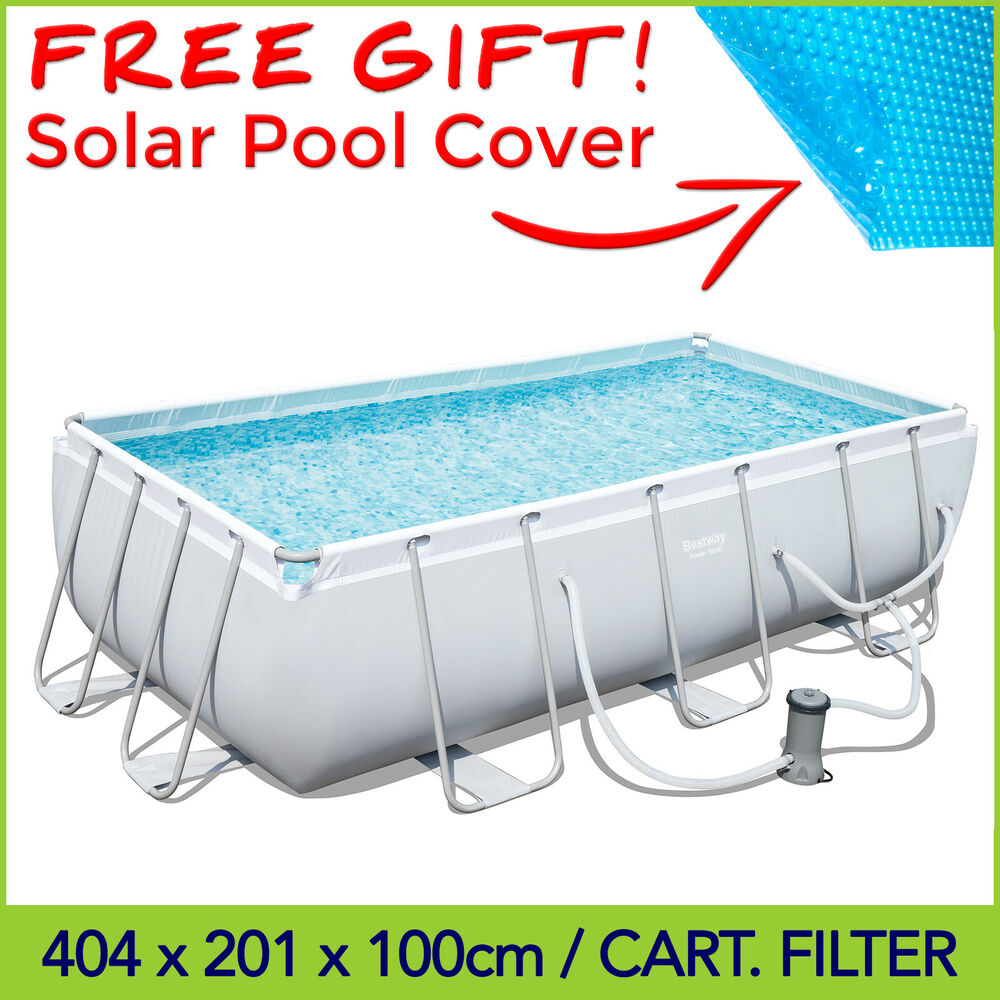 Bestway above ground swimming pool 404 x 201 x 100 cm with for Bestway pools for sale