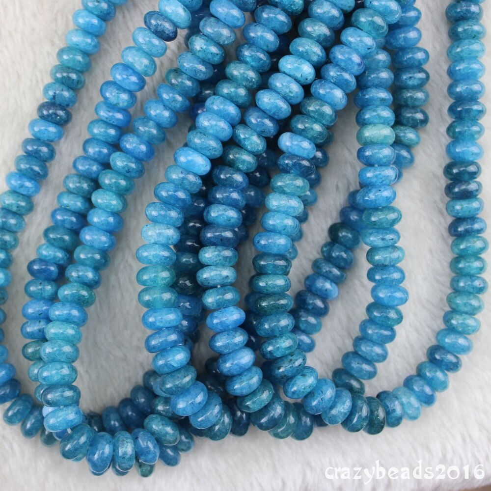 7x12mm abacus rondelle gemstone kyanite beads jewelry for Birthstone beads for jewelry making
