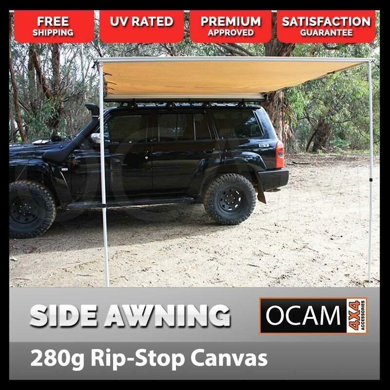 1.4M x 2.5M Car Side Awning Pullout Tent Camper Trailer ...
