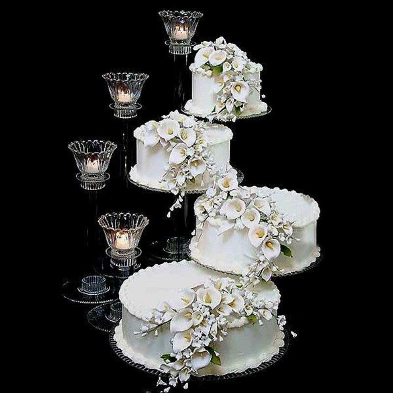 wedding cake 4 tier stands 4 tier cascade wedding cake stand spiral style r400 b ebay 21706