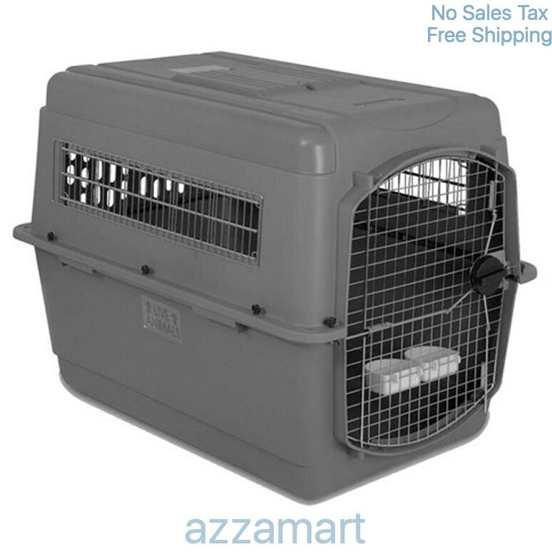 Airline dog crates for large dogs sky kennel travel big for Xl dog travel crate