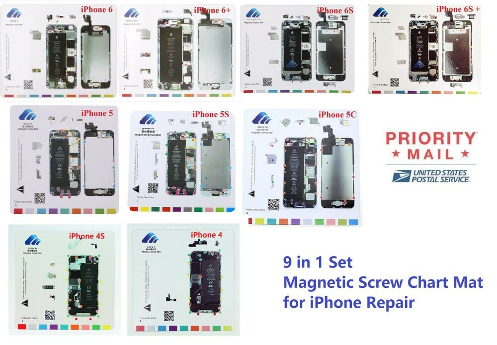 iphone 5c repair iphone 4 4s 5 5s 5c 6 6 6s 6s magnetic chart mat 2933