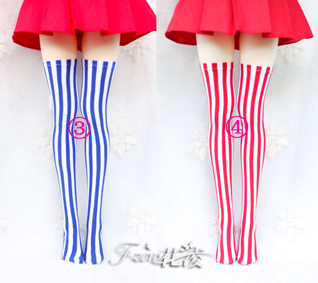 White thigh stocking Knee socks Clothes For 1//6 BJD Doll SD DOLL