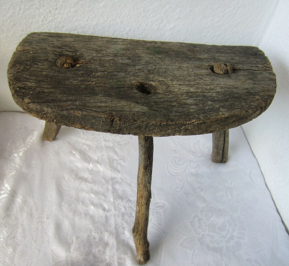 Antique Milking Stool Antique Milking Stool Stock Photo