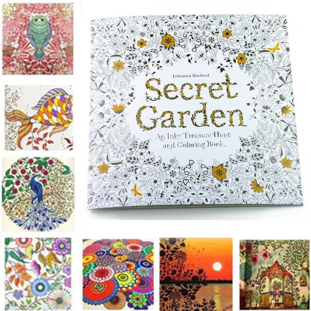 20 Pages English Secret Garden An Inky Coloring Painting
