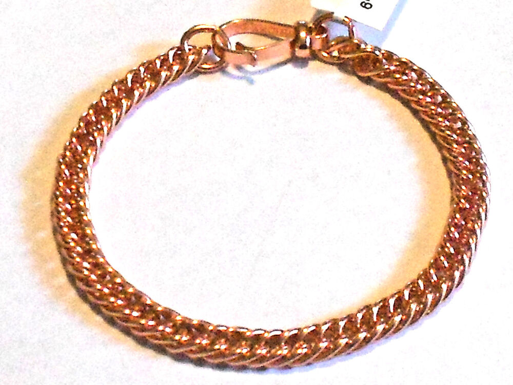 New Pure Bright Copper Double Link Ladies Bracelet Or
