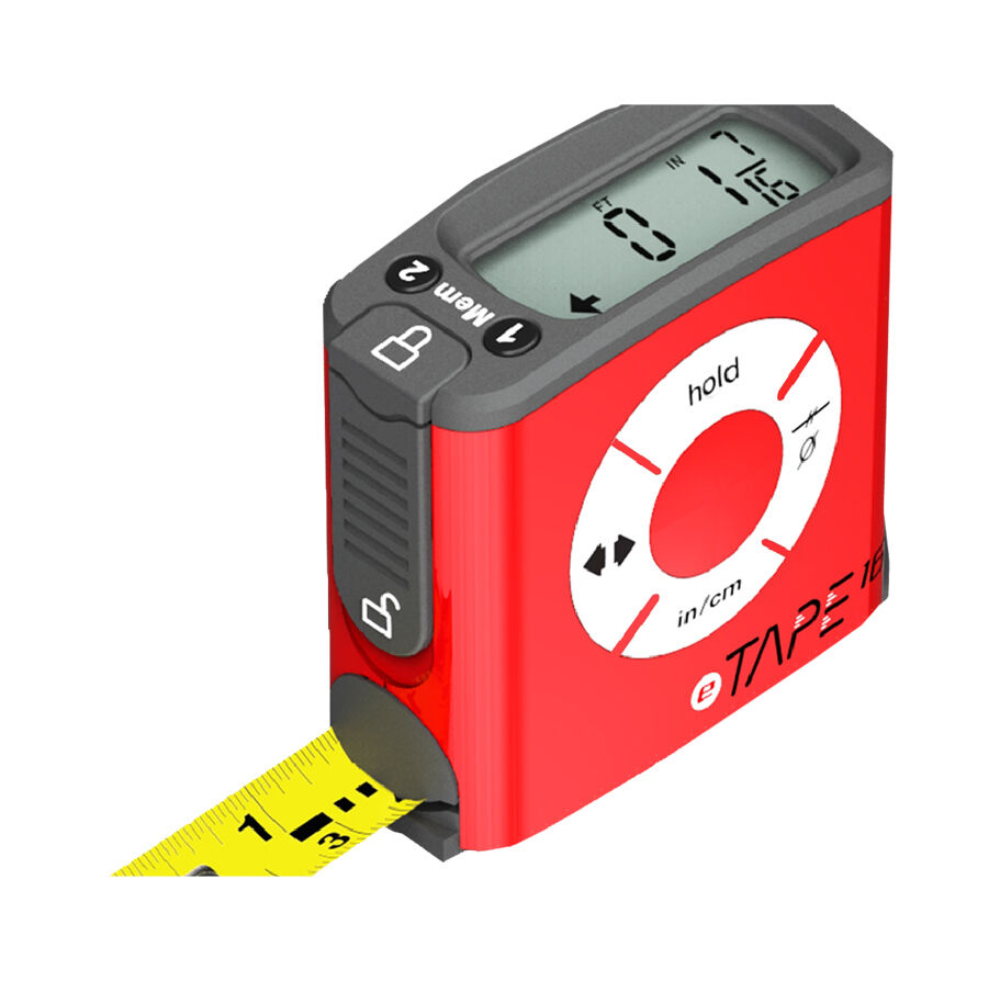 Electronic Tape Measure : Digital tape measure etape brand new ebay