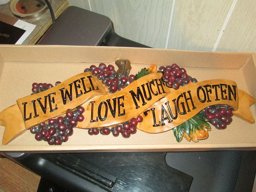 Live well love much laugh often wall decor kitchen tuscan for Well decorated kitchen