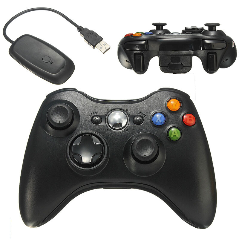 Black Wireless Video Game Remote Controller for PC ...