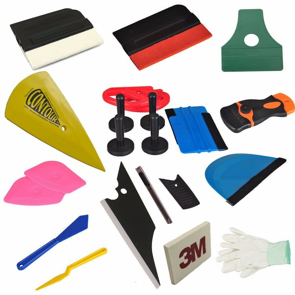 Car Wrapping Installation Tools Kit Vinyl Decal Squeegee