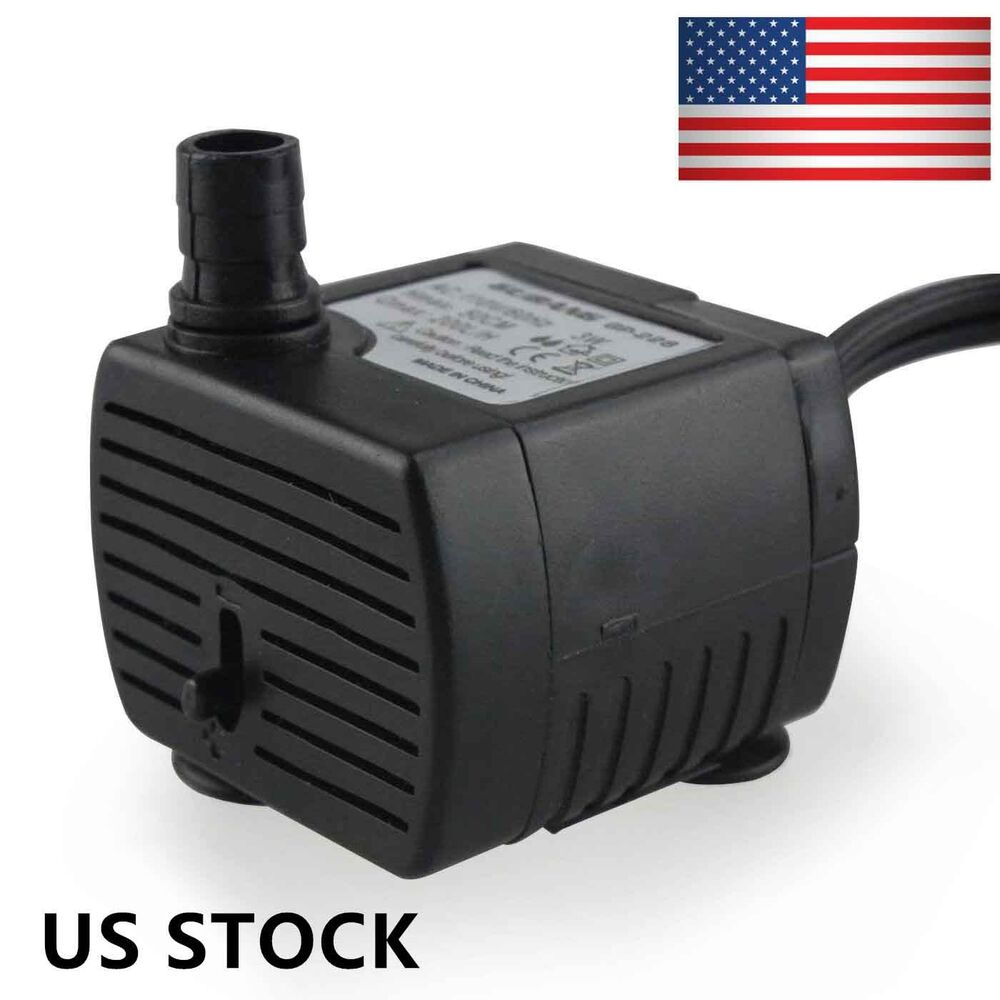 3w 110v 58gph submersible aquarium pond fountain water for Best small pond pump