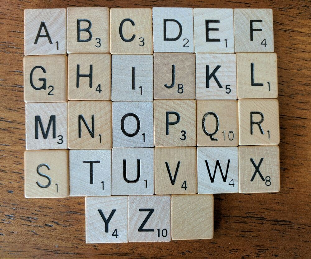 Scrabble tiles ebay original wood engraved scrabble tiles replacement crafts vintage dailygadgetfo Image collections