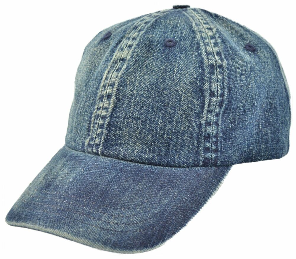 s denim baseball cap with buckle adjuster one size