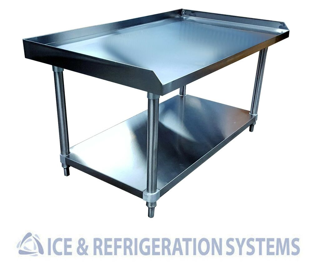 Stainless steel commercial 48 equipment stand kitchen for Stand commercial