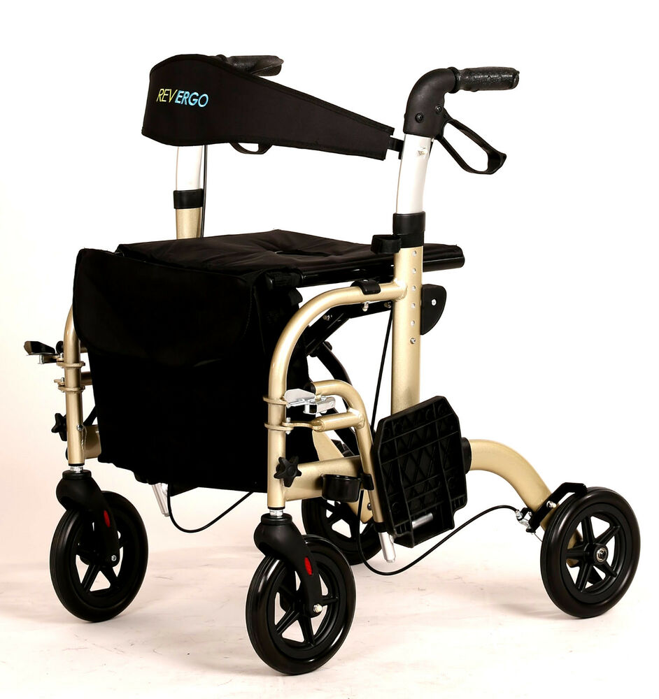 Duo 2 IN 1 Transport Chair Wheelchair / Hybrid Rollator