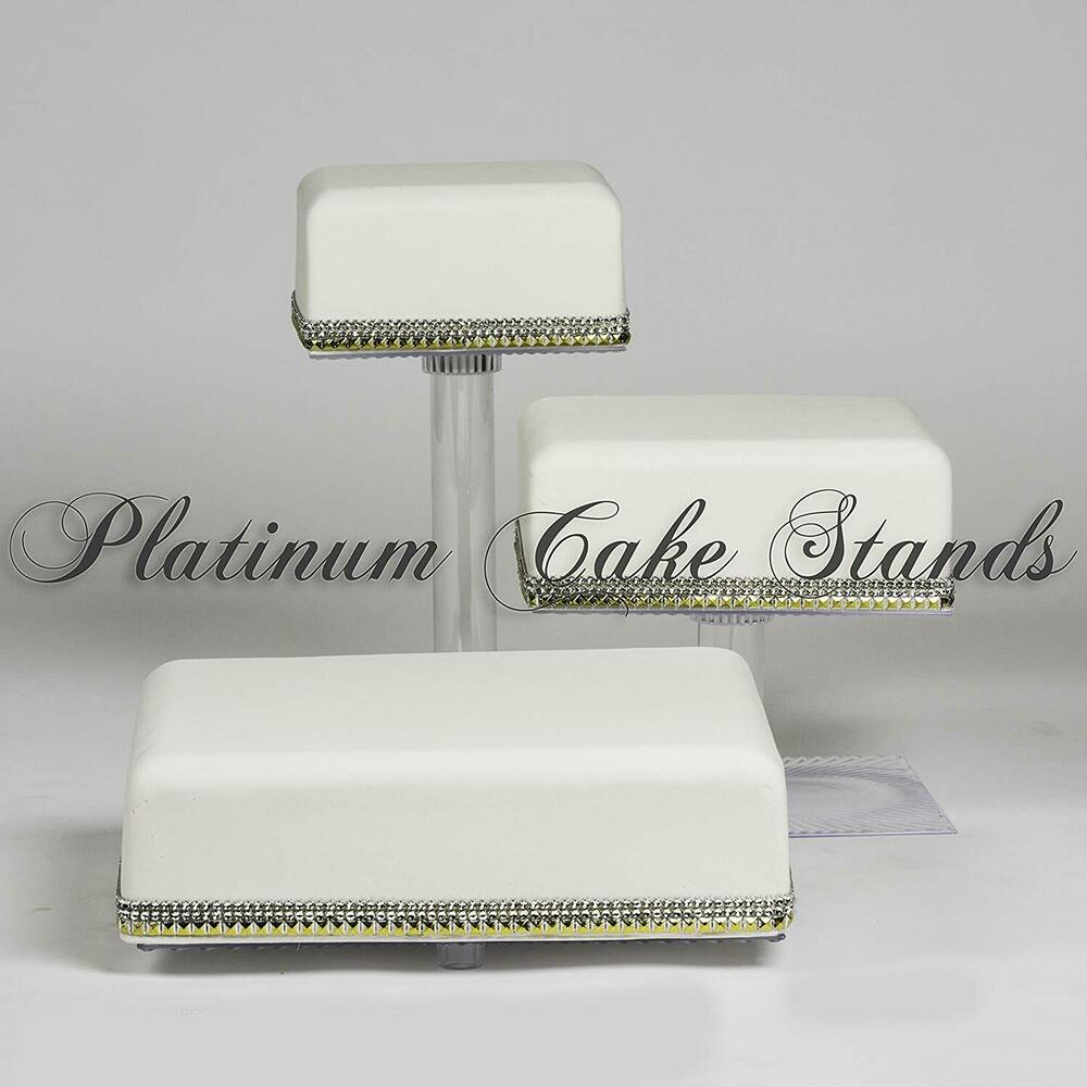 3 tier cascade wedding cake stand style r300 ebay. Black Bedroom Furniture Sets. Home Design Ideas