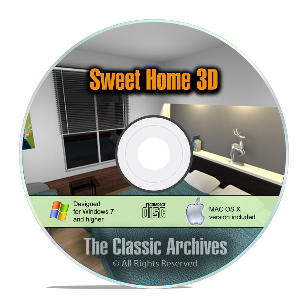 Sweet home 3d interior design house architect software kitchen bathroom cad f15 ebay Bathroom design software 3d