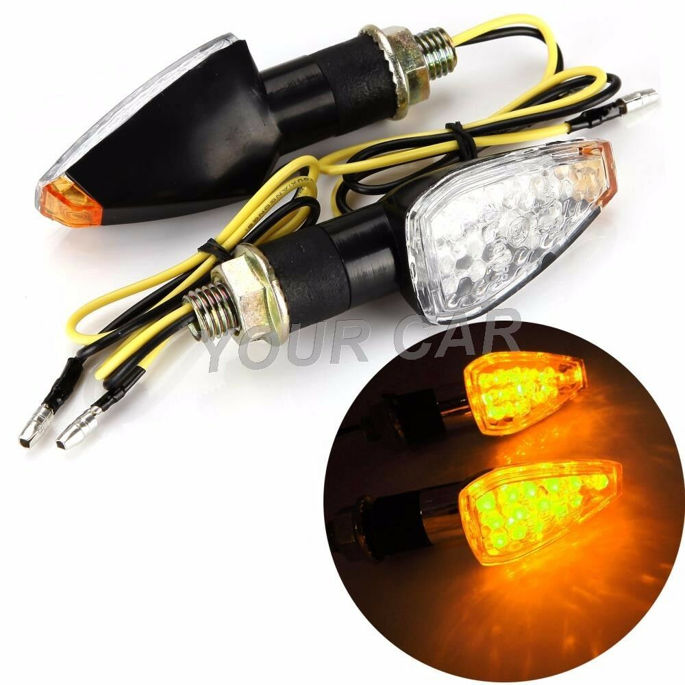 universal motorcycle mini 14 led turn signals indicators. Black Bedroom Furniture Sets. Home Design Ideas