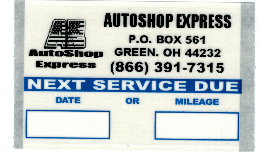 Personalized logo oil change stickers 1000 roll orl10003 ebay