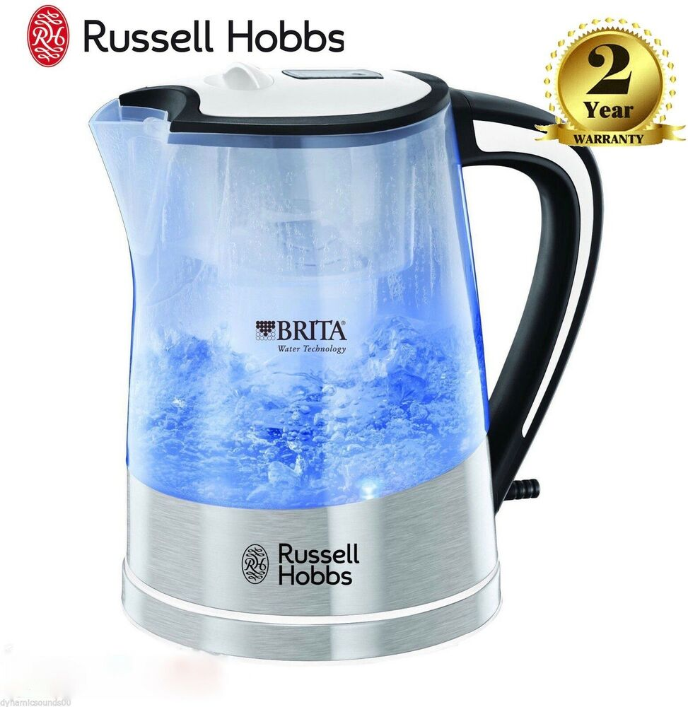 russell hobbs 22851 plastic brita filter purity kettle jug 3000 w 1 litre new ebay. Black Bedroom Furniture Sets. Home Design Ideas