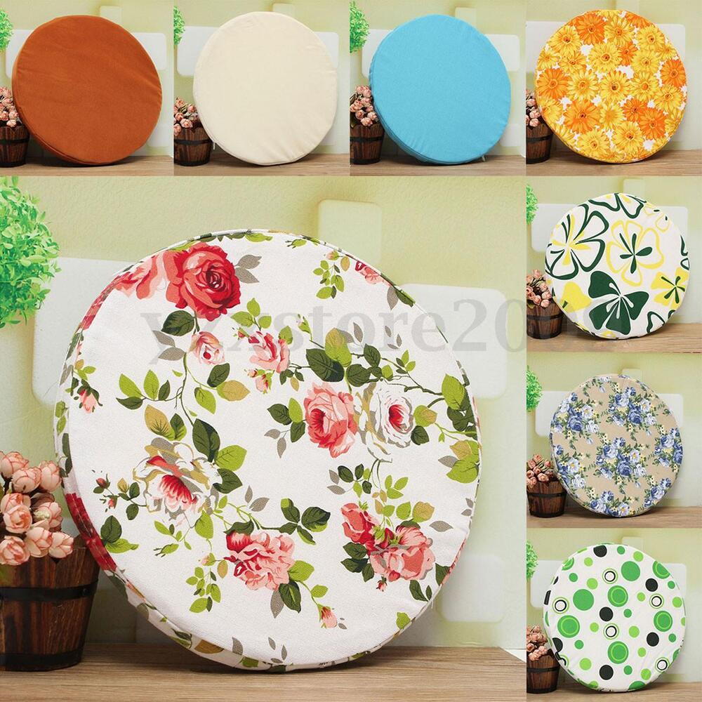 In Outdoor Round Couch Chairs Sofa Seat Pad Mat Cushion
