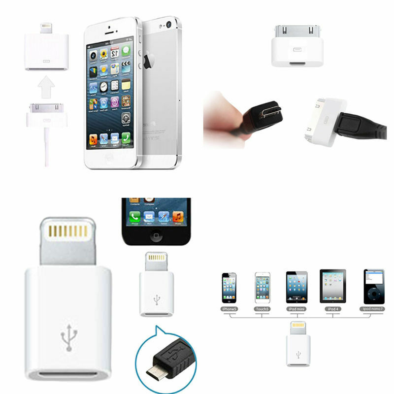 popular micro usb to iphone charger converter adapter for. Black Bedroom Furniture Sets. Home Design Ideas