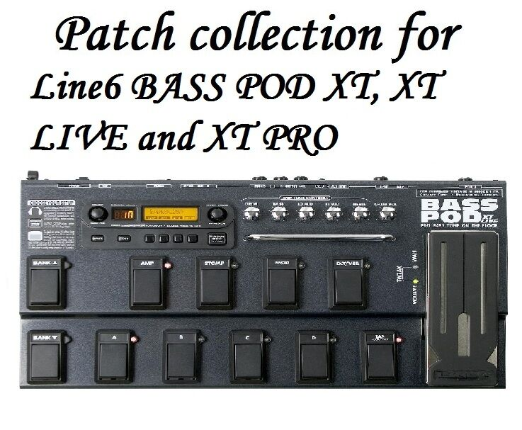 patches tones for line6 line 6 bass pod xt xt live xt pro 4 400 files ebay. Black Bedroom Furniture Sets. Home Design Ideas