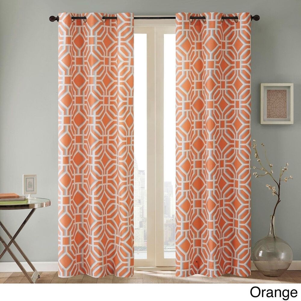 orange and gray curtains - photo #26