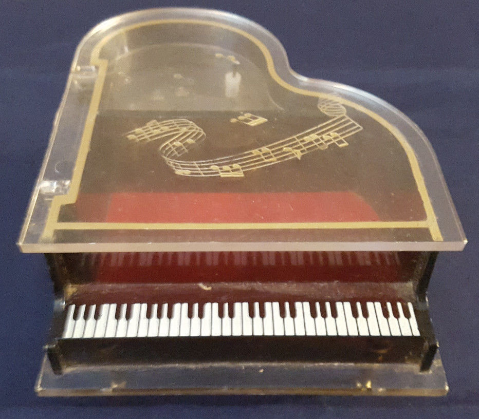 Baby Grand Piano Musical Jewelry Box By Sankyo Vintage