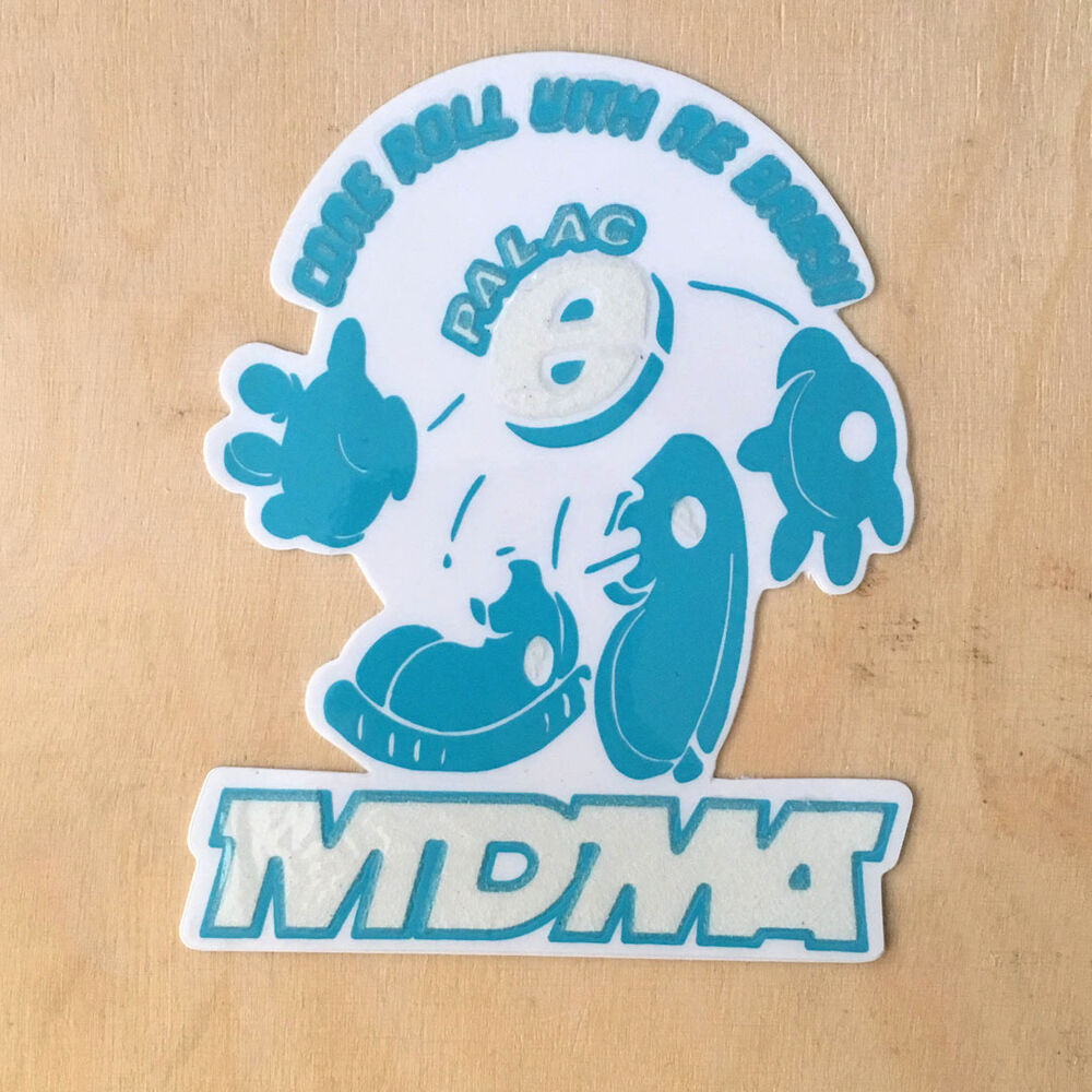 6f0307f51e12 Details about Palace skateboard sticker decal Bronze Supreme tri-flag MDMA  E ROLL glow ME BABY