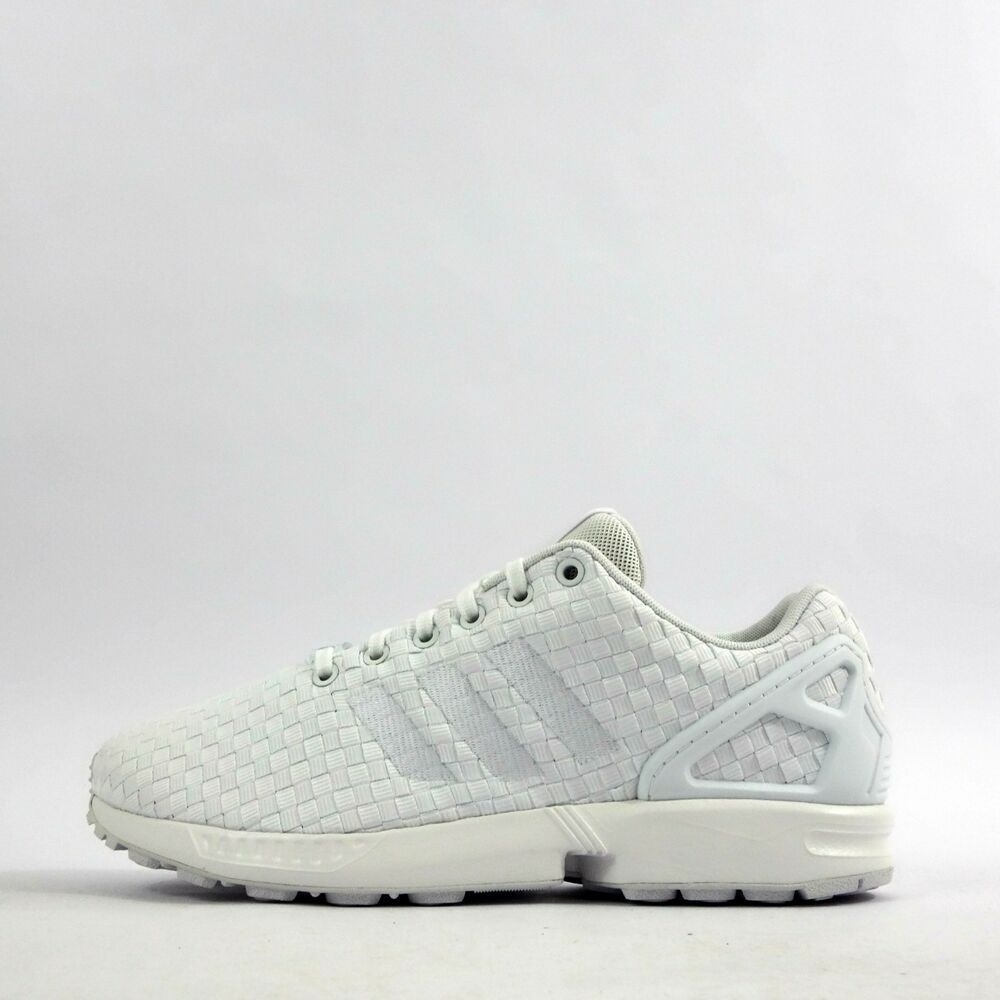 779e21aeeebc7b Details about adidas Originals ZX Flux Woven Mens Trainers Shoes Triple  White