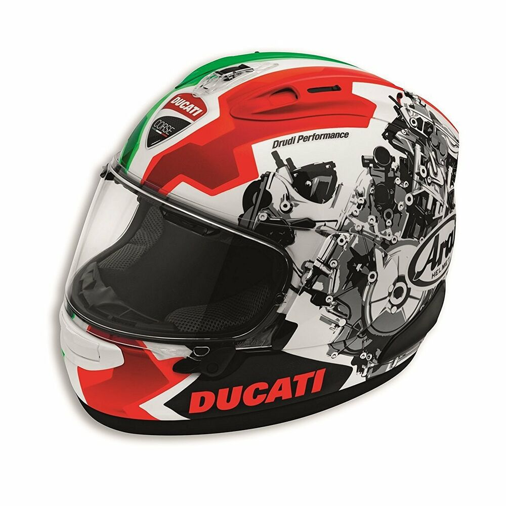 ducati corse v2 motorcycle helmet 98103686 arai corsair x ebay. Black Bedroom Furniture Sets. Home Design Ideas