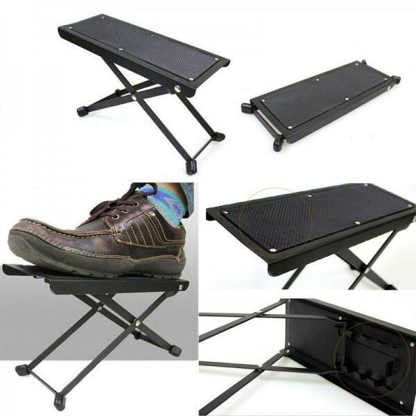 Folding Guitar Foot Stool Guitar Foot Rest Pedal Guitarist