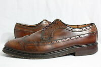 Vintage Mens 50's Mens Hand-made FLOYD & HAIG Leather Wingtip Oxford Shoes 9.5